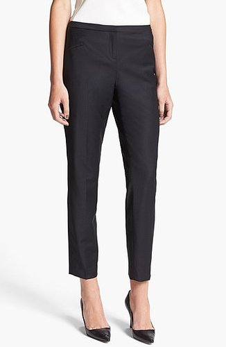Ted Baker London 'Shiny Lavanta' Crop Trousers Womens Black Size 1 1
