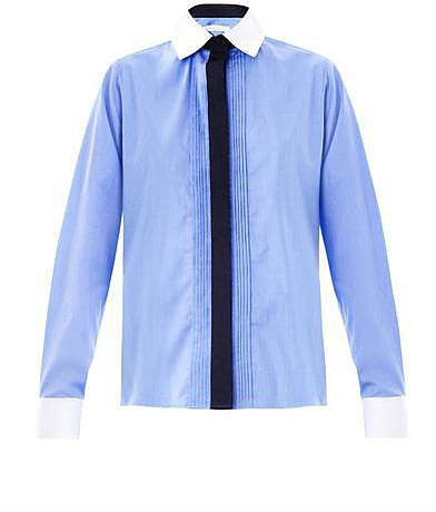 Vanessa Bruno Chambray contrast-collar shirt