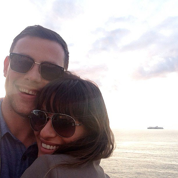 "Lea shared this touching snap of her and Cory Monteith after his death in July 2013, thanking her fans for their ""enormous love and support,"" adding, ""Cory will forever be in my heart."" Source: Instagram user msleamichele"