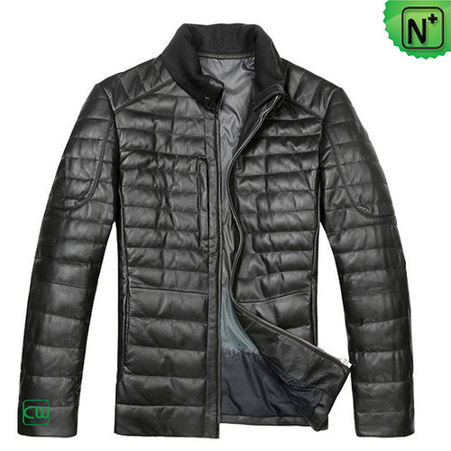 Mens Leather Down Jacket CW804283 - m.cwmalls.com