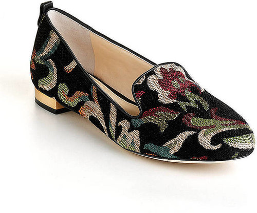VC SIGNATURE Adeline Leather Needlepoint Loafers