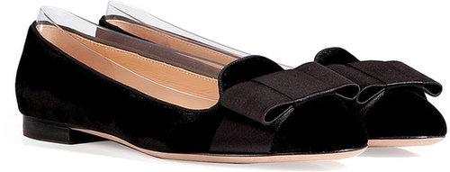 Valentino Velvet Loafers in Black