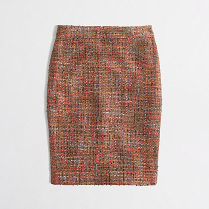Factory pencil skirt in frayed tweed