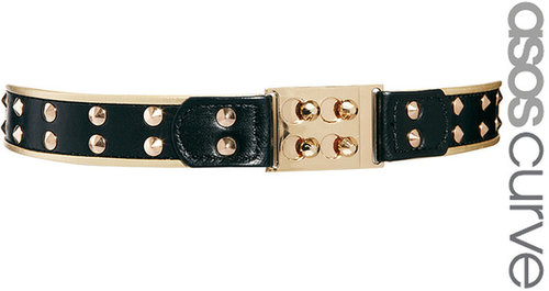 ASOS CURVE Buckle And Stud Detail Waist Belt