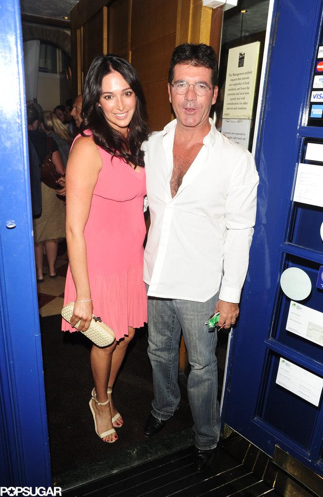 Simon Cowell Can't Stop, Won't Stop Kissing Lauren Silverman