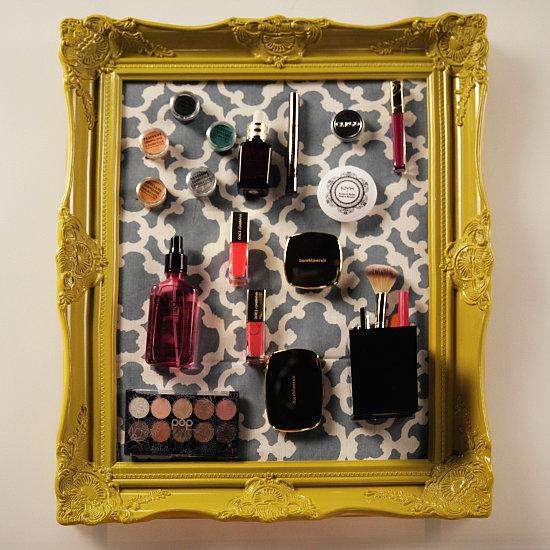 DIY Magnetic Makeup Board Organizer