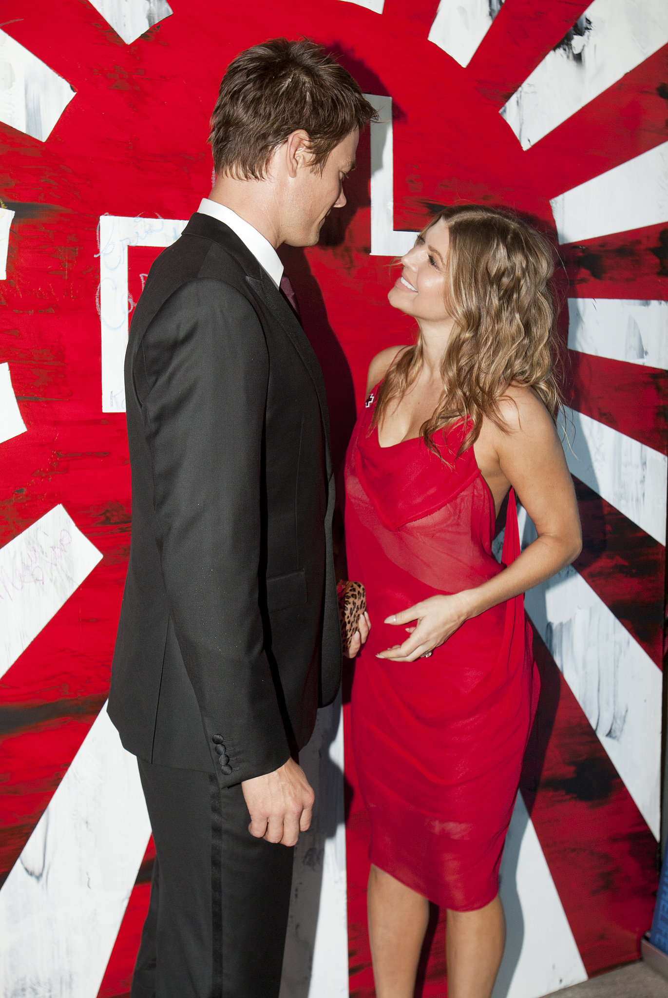 Josh Duhamel and Fergie attended the American Red Cross Red Tie Affair event in LA in April 2009.