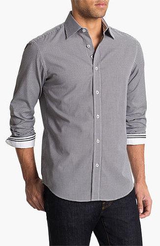 BUGATCHI Shaped Fit Sport Shirt Black X-Large