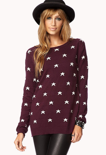 FOREVER 21 Star Print Sweater