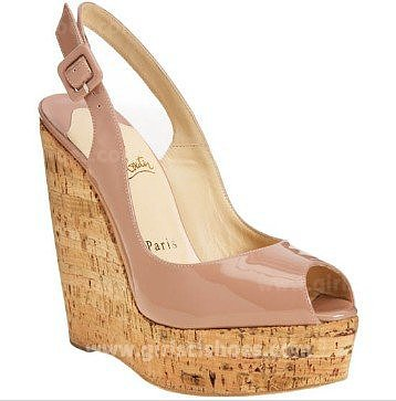 Wedges Une Plume 140mm Pink Christian Louboutin for Cheap