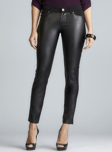 Seven7 Vegan Leather Front Pull On Legging