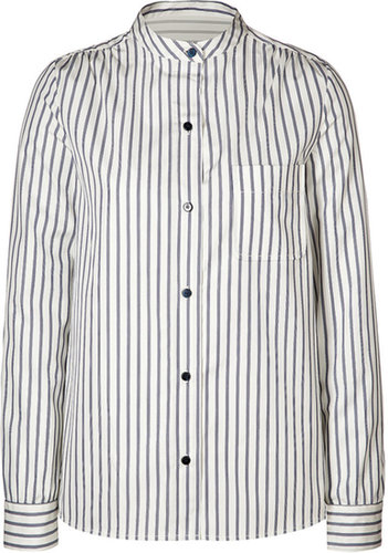 Marc by Marc Jacobs Cotton Baron Striped Blouse in Skipper Blue Multi