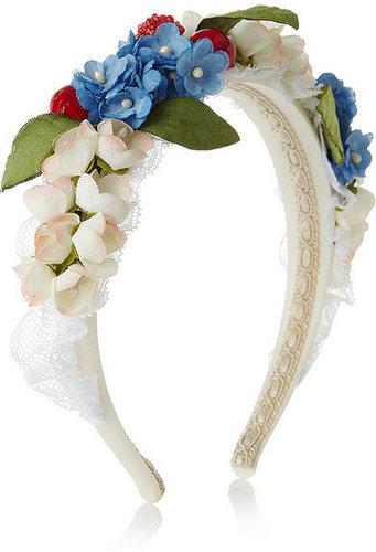 Dolce & Gabbana Verzierter Haarreif aus einer Baumwoll-Seidenmischung