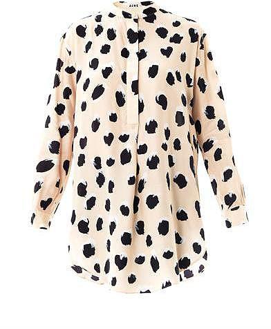 Acne Sevilla lynx-print blouse