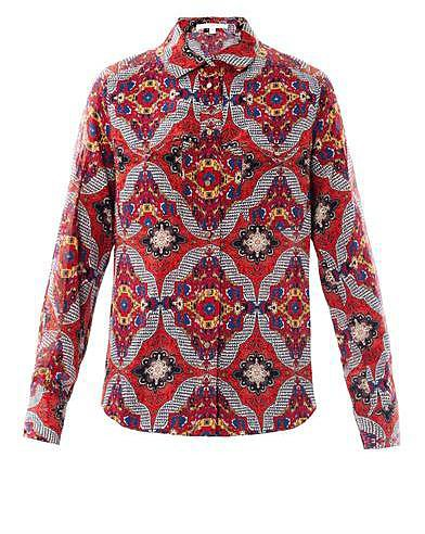Veronica Beard Bonfire bandana-print silk blouse
