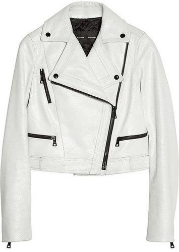Proenza Schouler Cracked-leather biker jacket