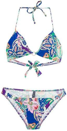 Ralph Lauren Blue 'Bahama Paisley Bikini'