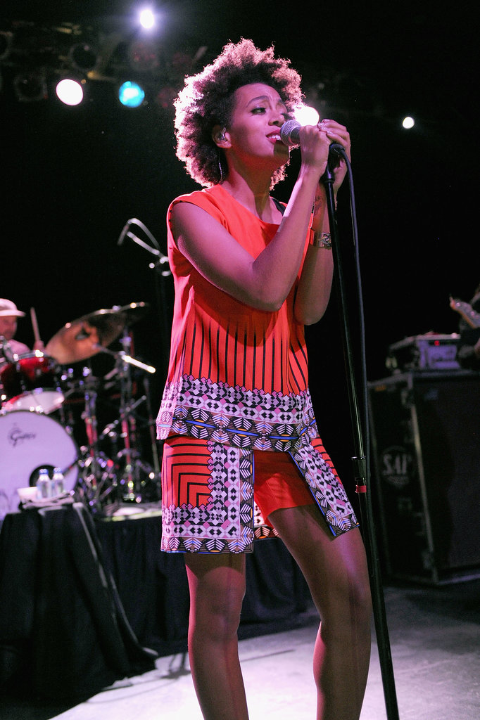 Solange performed at an afterparty during the Made in America Fesival.