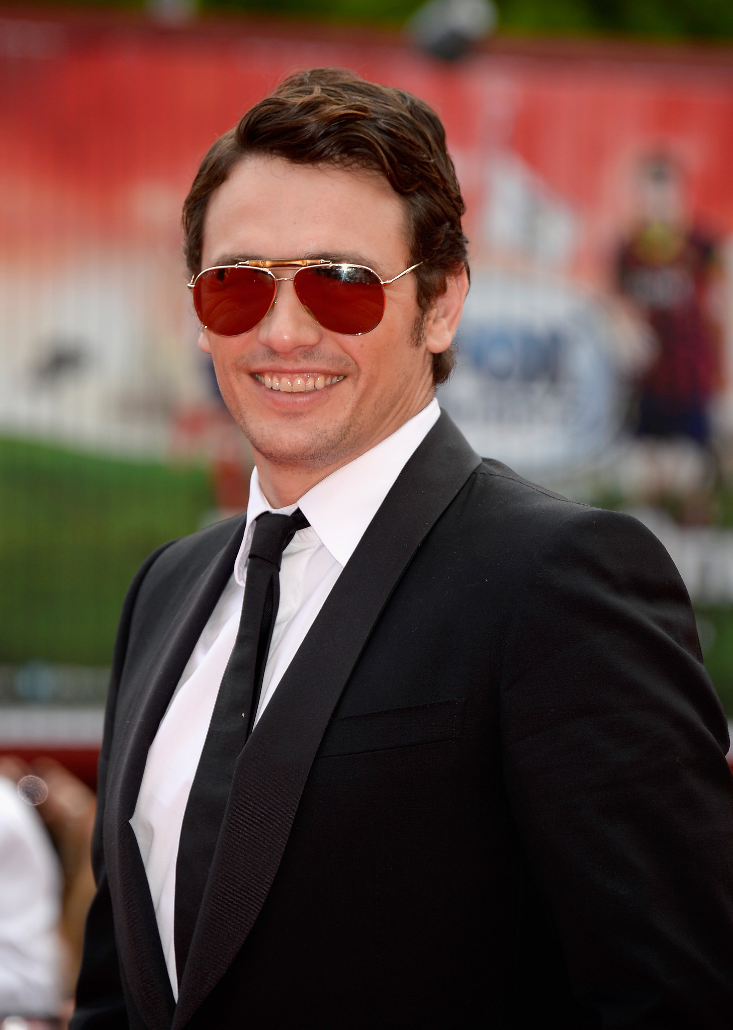 James Franco sported some shades at the Palo Alto premiere.