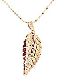Jennifer Meyer Small Leaf Pendant - Rose Gold