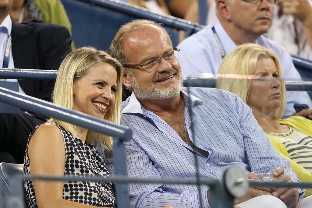 Kelsey Grammer and Kayte Walsh were all smiles at the US Open.
