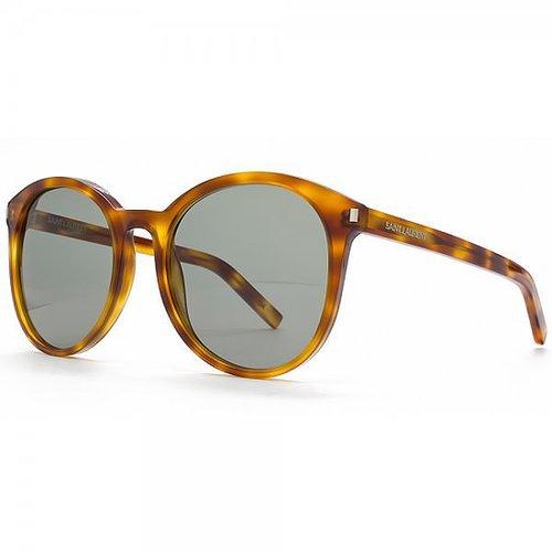 Saint Laurent Classic 6 Round Wayfarer Style Sunglasses in Havana