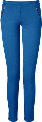 Emilio Pucci Ocean Blue Cotton Stretch Pants