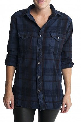 TEXTILE Elizabeth & James Kurt Flannel Blue