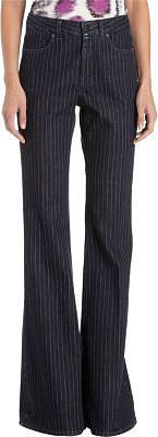 Stella McCartney Pinstriped Four-Pocket Flare Leg Jeans