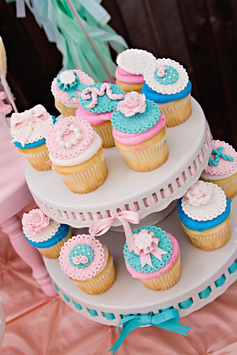 Cute Cupcakes | A Pretty Pony Party With Shabby-Chic Details ...