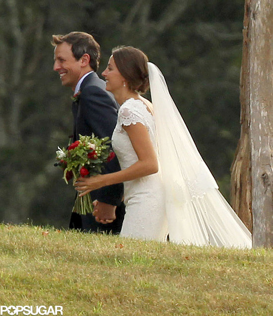 Seth Meyers and his longtime girlfriend, Alexi Ashe, made it official during an intimate Martha's Vineyard ceremony in September 2013.
