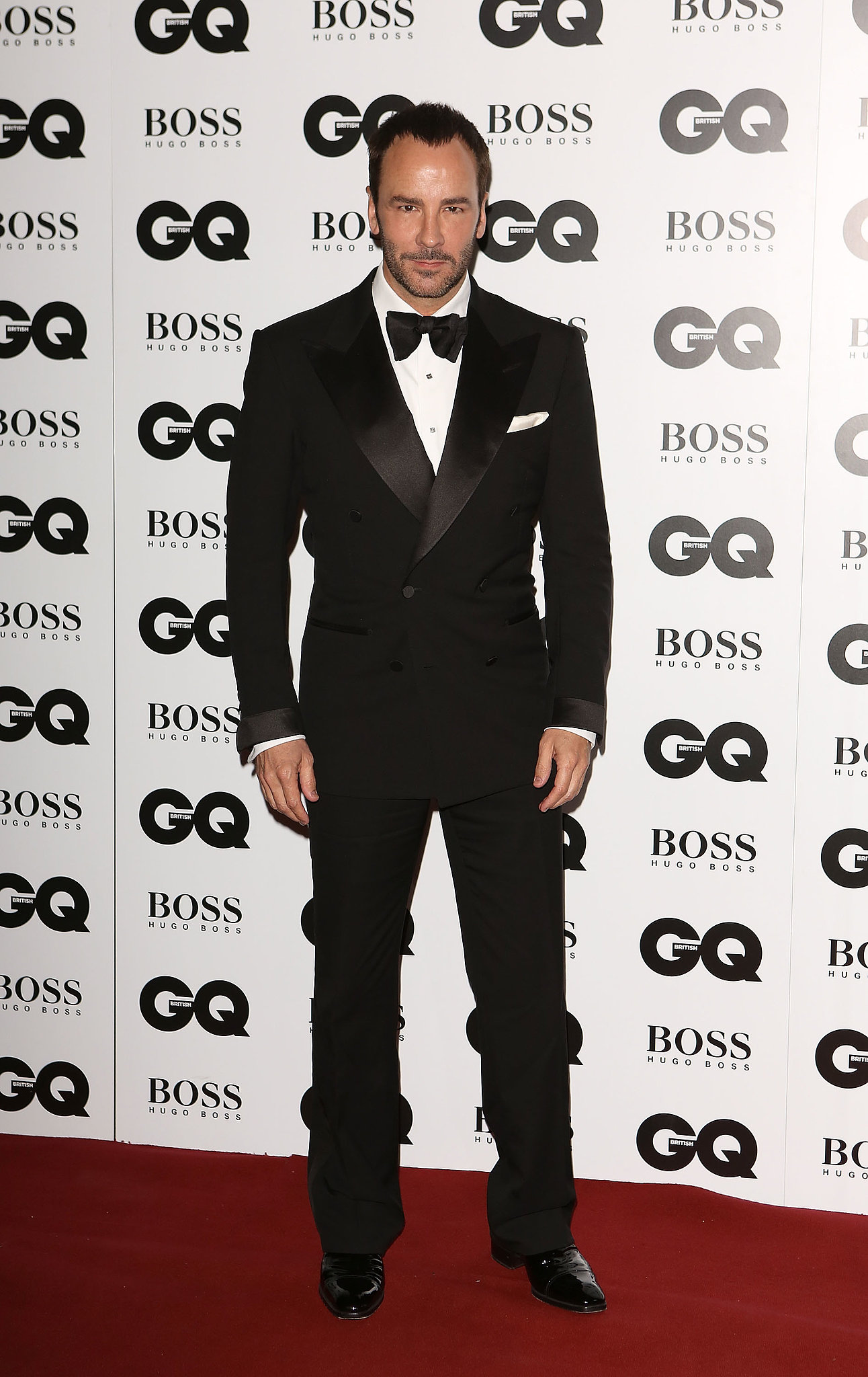 Tom Ford looked classic in his suit and tie while at the GQ Men of the Year Awards to receive his statue from Justin Timberlake.