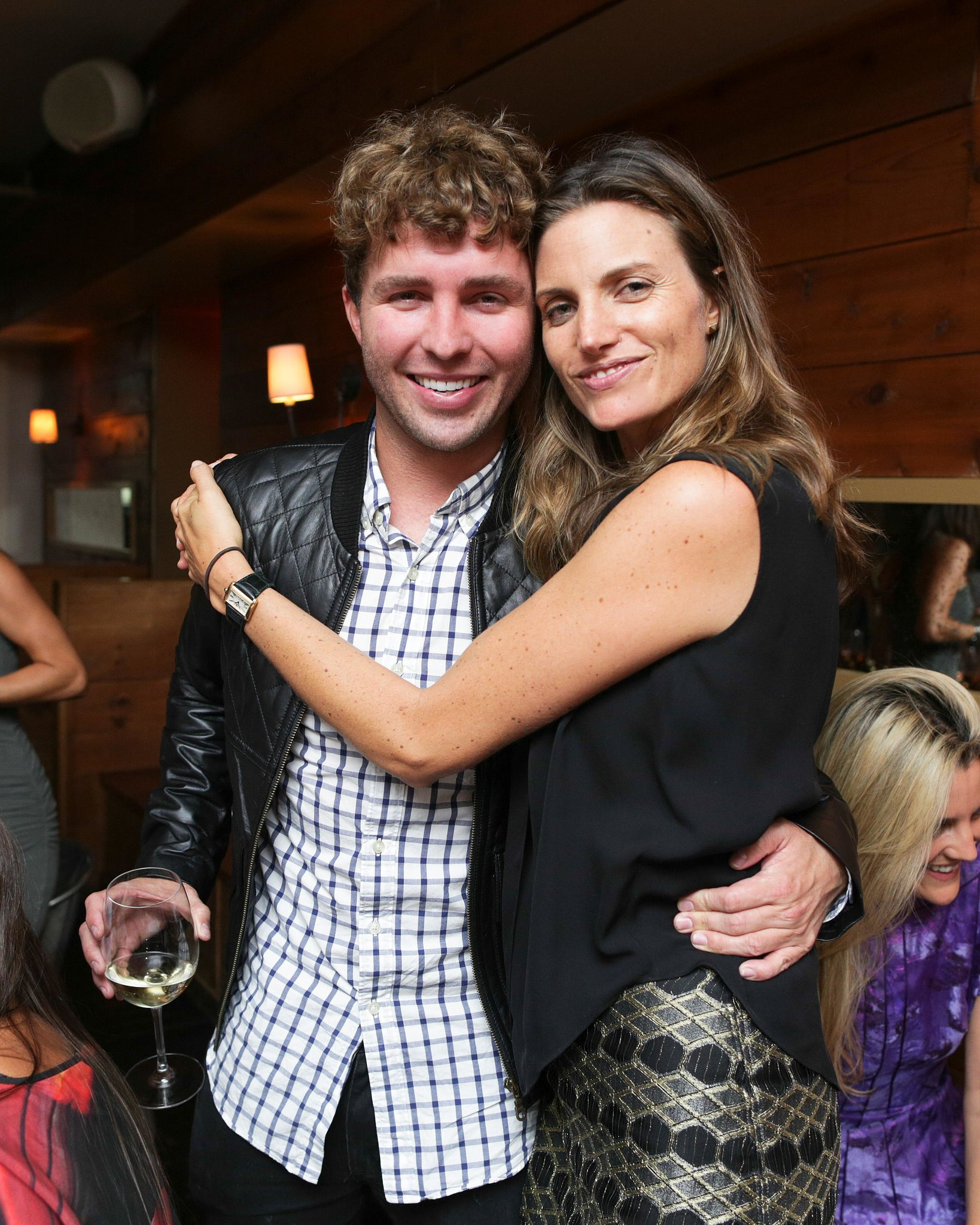 At BDA's Michael Bastian dinner, Timo Weiland got an embrace from Ashley Wick.