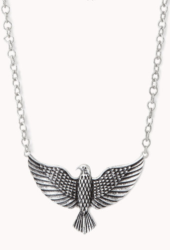 FOREVER 21 Etched Eagle Necklace