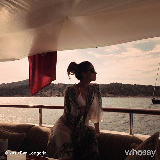 Eva Longoria shared a photo while on a boat in Italy over Labor Day weekend. Source: Eva Longoria on WhoSay