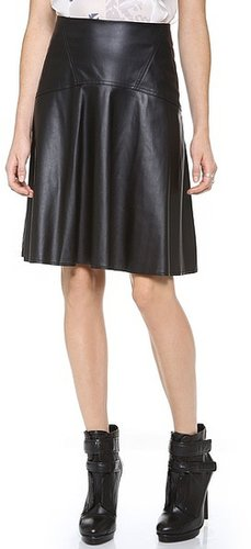Bcbgmaxazria Camber Faux Leather Skirt