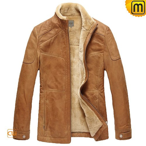 Mens Fur Lined Leather Jacket CW829120