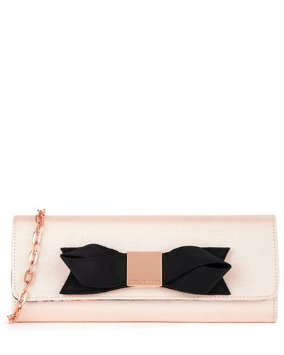 BOWLA Satin bow clutch