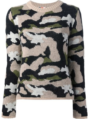 Msgm camouflage print sweater