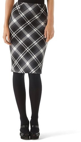 Bristol Plaid Pencil Skirt