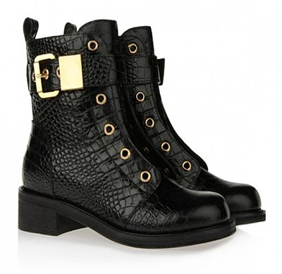 GIUSEPPE ZANOTTI CALF-SKIN LEATHER BOOT
