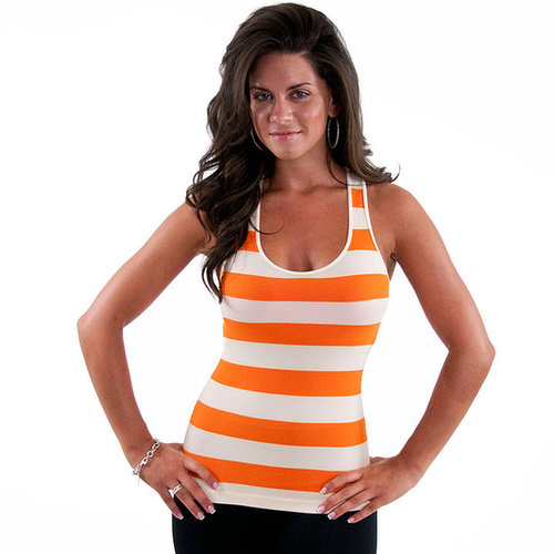 Sugarlips Seamless Striped Racerback Tank Tops