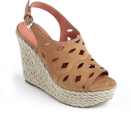 VIA SPIGA Katrina Leather Platform Wedge Sandals