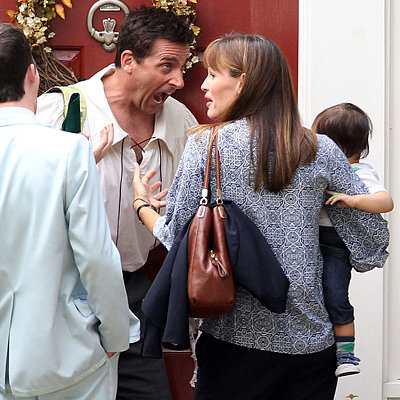 Jennifer Garner on the Set of Alexander and the Terrible Day