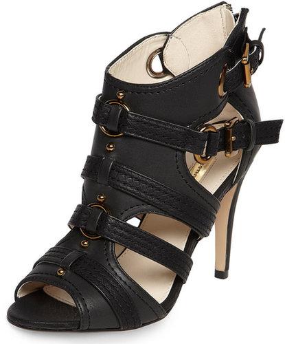 Black open metal shoeboots