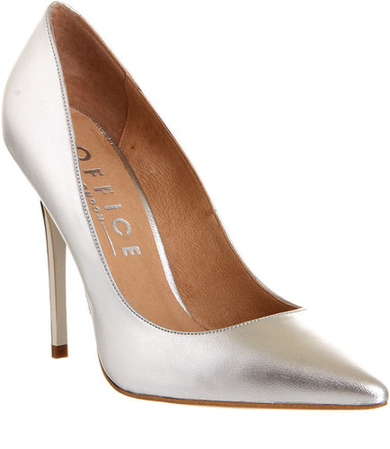 Office On Top Silver Leather - High Heels