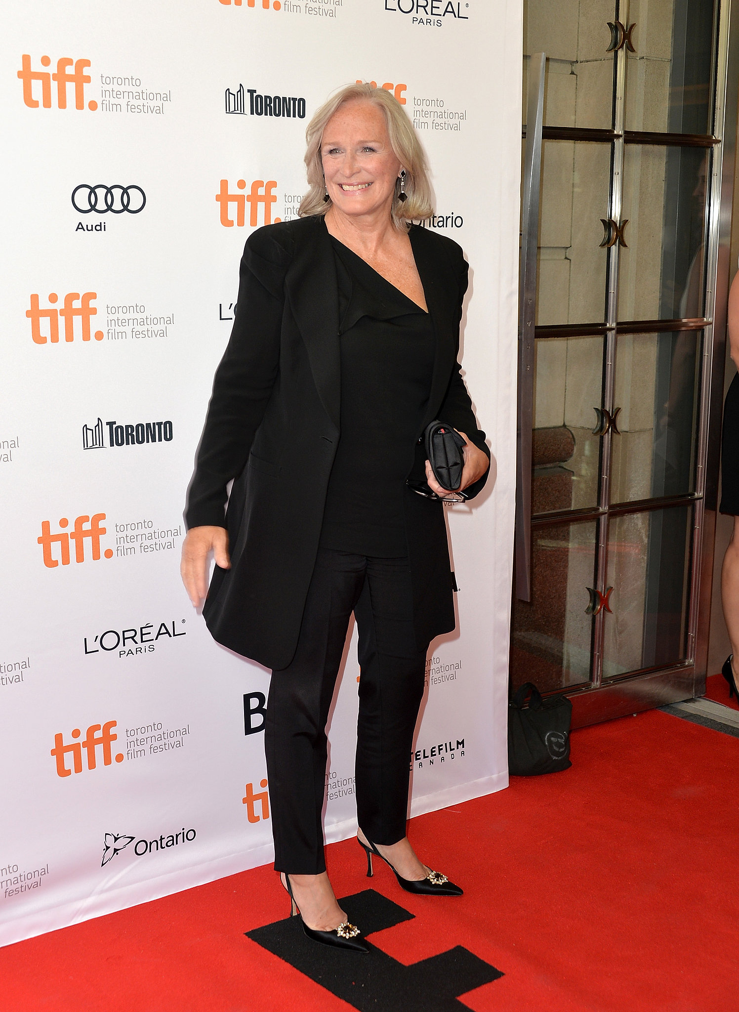 Glenn Close wore black to a special 30th anniversary screening of The Big Chill.