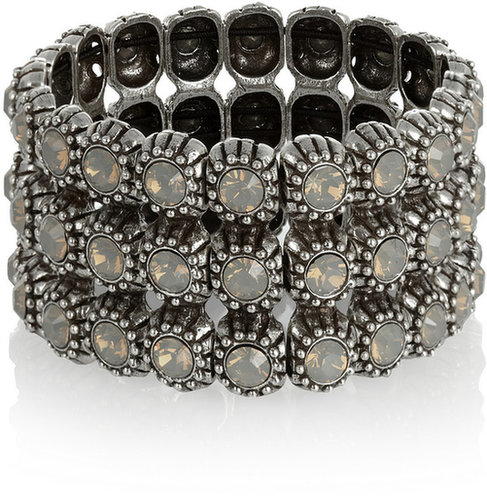 Philippe Audibert Kara silver-plated Swarovski crystal cuff