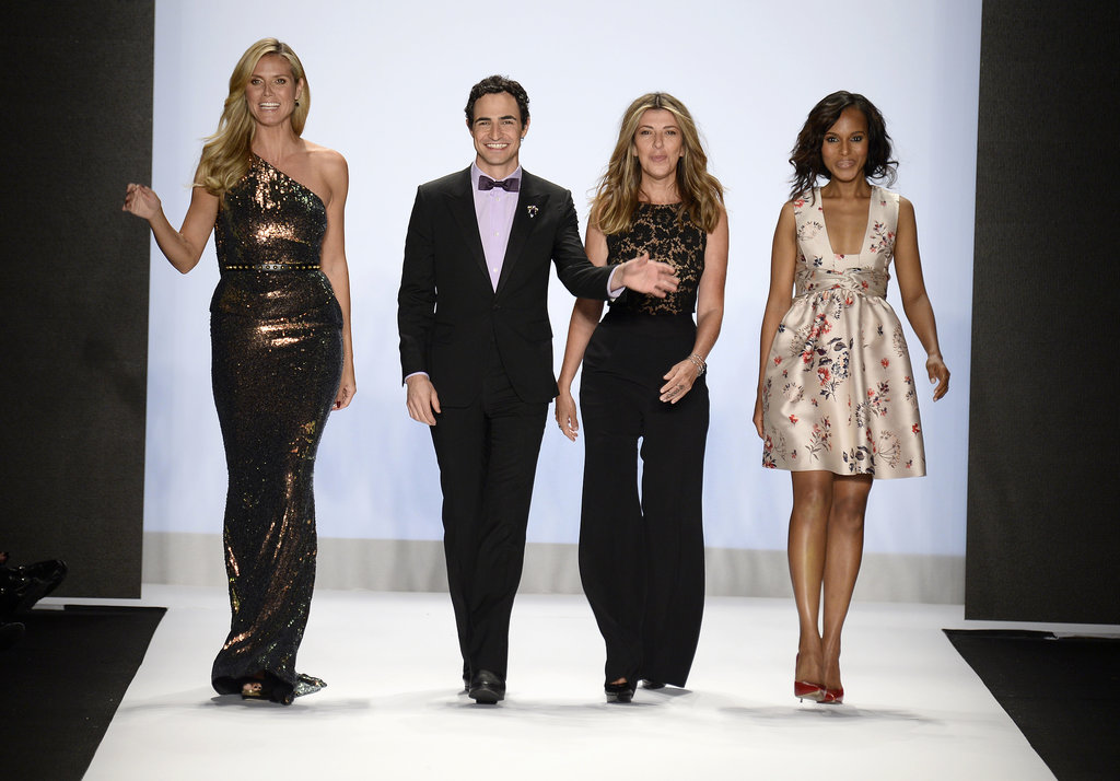 Kerry Washington, Heidi Klum, Zac Posen, and Nina Garcia walked the runway at the Project Runway fashion show.