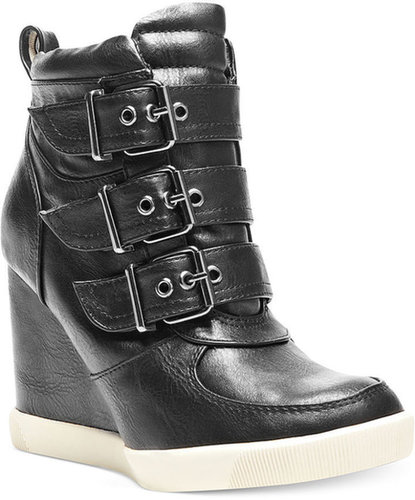 Steve Madden Women's Shoes, Latches Wedge Sneakers